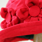 Red cloche flower hat