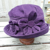 Dark purple cloche hat