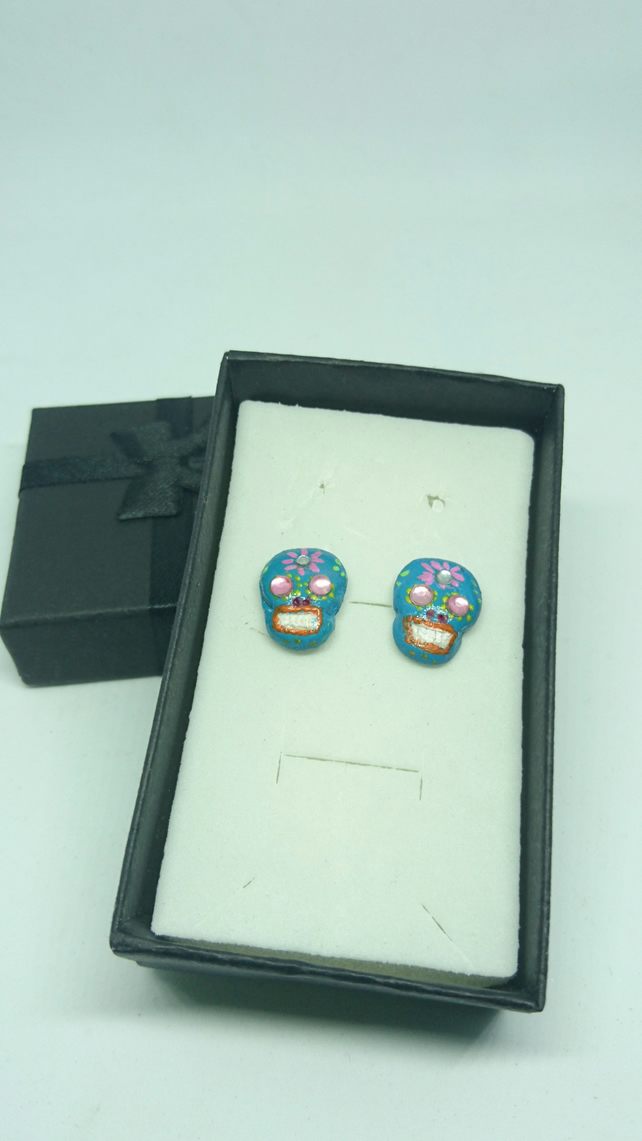 Day of The Dead stud earrings