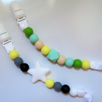 Teething Dummy Clip Silicone Boobie Beads
