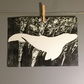 Whale With Underwater Reflections Monoprint