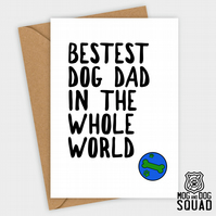 Best Dog Dad Birthday card,  Father's day card