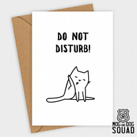 Cat do not disturb Birthday card