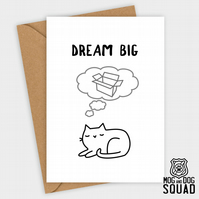 Cat dream big greeting card