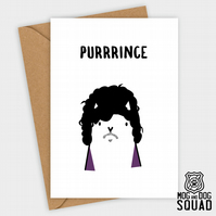 Prince Cat Birthday card