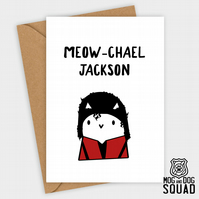 Michael Jackson Cat Birthday card
