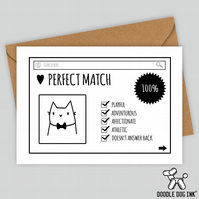Cat dating profile Birthday card