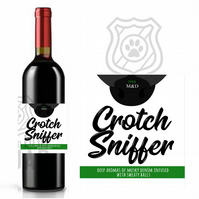 Crotch Sniffer Dog wine label