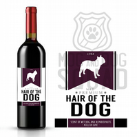 Hair of the Dog wine label