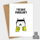 Freddie Mercury Purrcury Cat Birthday card