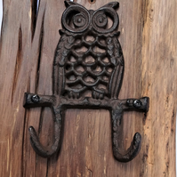 Owl Coat Hook on 16th Century English Oak