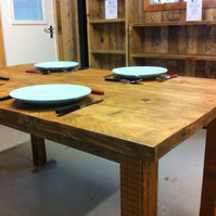 Dining Table made from Reclaimed Wood