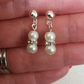 Dainty Wedding Pearl Earrings available in stud backed or clip on