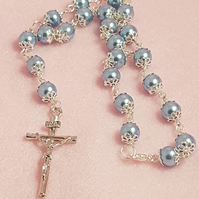Rosary Cross Rear View Mirror Charms