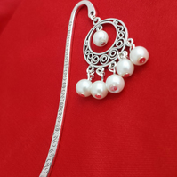 Beaded Tibetan Silver Bookmark