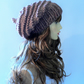 Pixie Beanie Hat, Beige Knit Hat