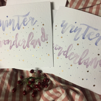 Winter Wonderland - Watercolour Christmas Cards
