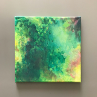 Greenery Abstract Canvas Painting
