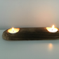 A Rustic Tealight Candle Holder for Two Tealights