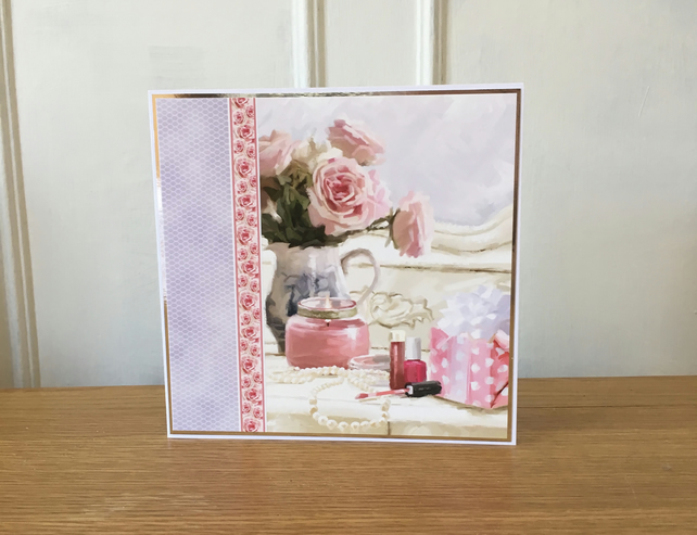 finest selection 4c4a8 b6eba Pretty Dressing Table Card