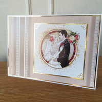 Art Deco Wedding Card