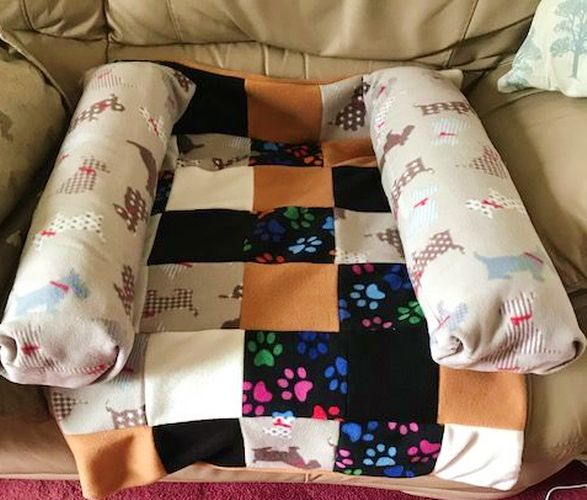 Dog or Puppy Fleece Snuggle Sofa Bed - Various Sizes Available