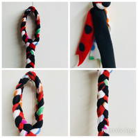 Handmade  Multicoloured DOG FLEECE PULL Dog Toy, Puppy Pull, Raggy Toy,