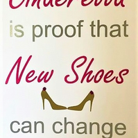 New Shoes Change Your Life Card - Handmade Greeting Card