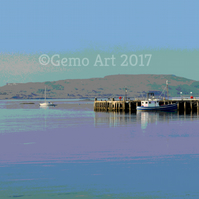 "The Old Pier, Millport, Scotland - Poster Print 20"" x 16"""