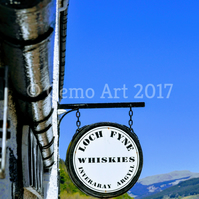 "Inveraray Whisky, Main St, Scotland - Photo Print 20"" x 16"""