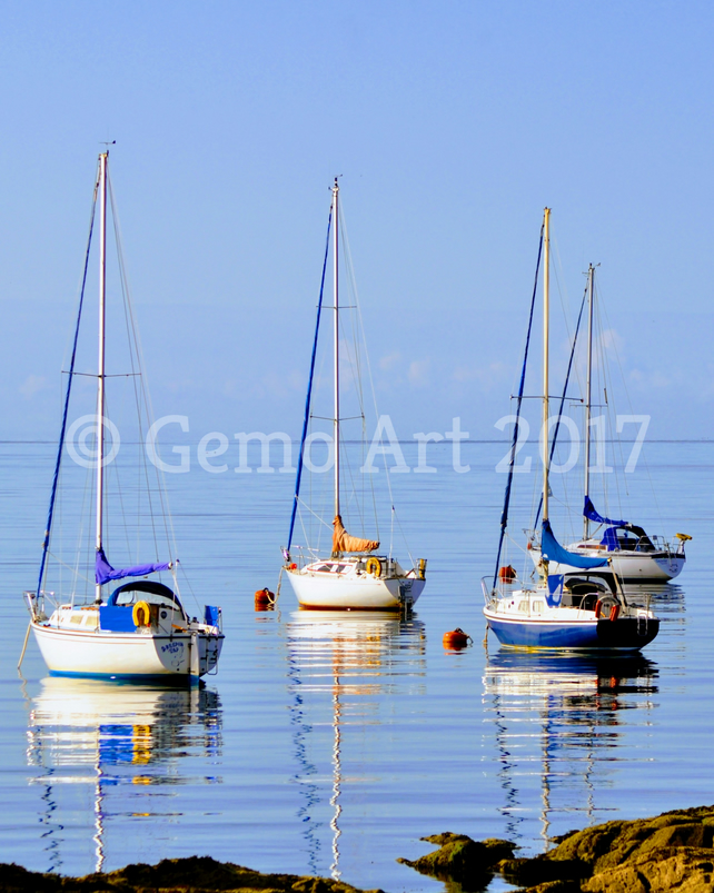 "Sailing Boats, Isle of Cumbrae, Scotland - Photo Print 20"" x 16"""