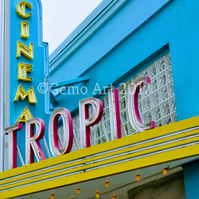 "Cinema, Key West, Florida - Photo Print 20"" x 16"""