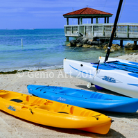 "Canoes, Key West, Florida - Photo Print 20"" x 16"""