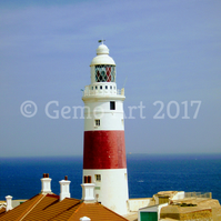 "Lighthouse, Europa Point, Gibraltar - Photo Print 20"" x 16"""