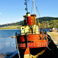 "Puffer at Inveraray, Scotland - Photo Print 20"" x 16"""