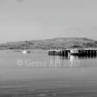 "The Old Pier, Millport, Scotland - Photo Print - Black & White 20"" x 16"""