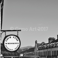 "Inveraray Main Street, Scotland - Photo Print - Black & White 20"" x 16"""