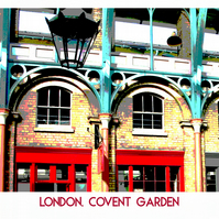 "Covent Garden, London - Poster Style Print 20"" x 16"""