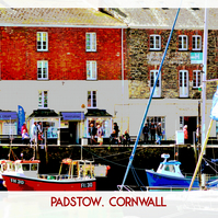 "Padstow, Cornwall, Unframed Poster Style Print - 20"" x 16"""