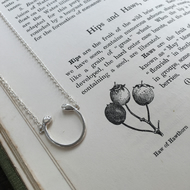 Sterling silver hawthorn pendant