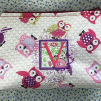 Owl Makeup bag Personilised