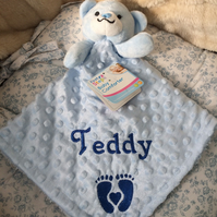 Baby Comforters Embroidered and personalised