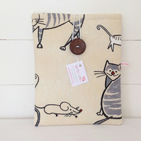 iPad Cover Charcoal Cat & Mouse