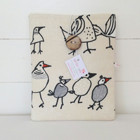 iPad Cover Charcoal Birds