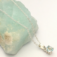 Sterling Silver and Sky Blue Topaz Pendant.