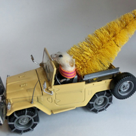 Jeep Joyrider riding home for Christmas  Taxidermy