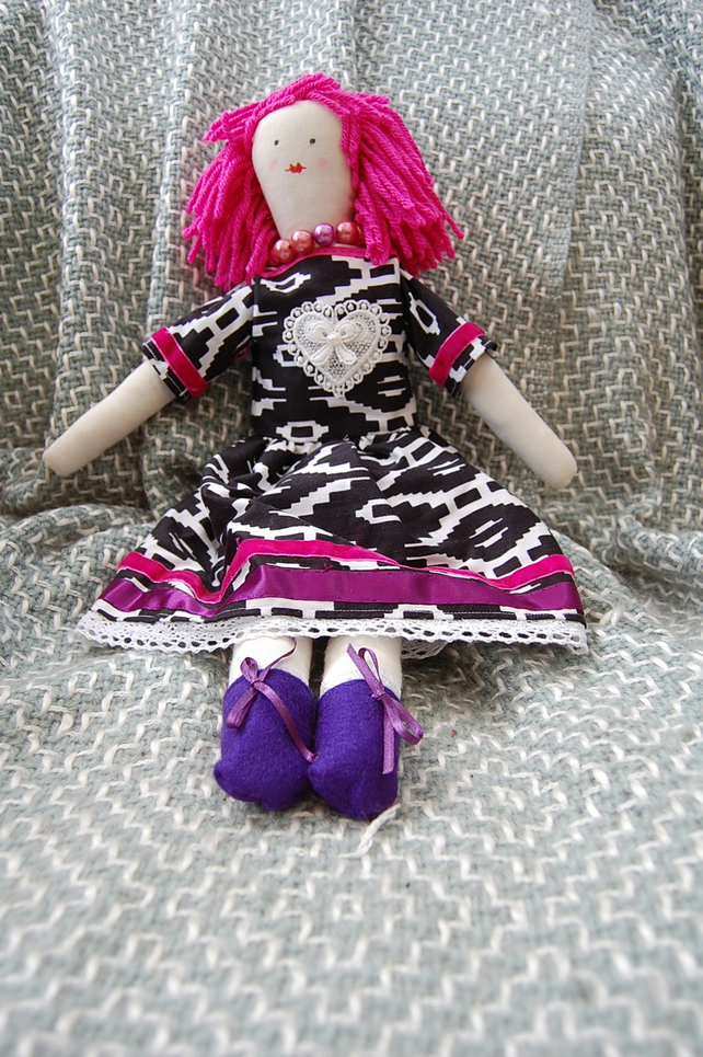 hand made rag doll collectors item  a one-off