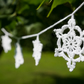 Crochet Christmas decoration, snowflake garland.