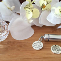 Personal Cremation Urn In A Choice of Styles with Engraved Charm (description)