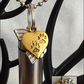 Rainbow Bridge Cremation Jewellery Ashes Urn, Gold Paws Heart & Rainbow Charm